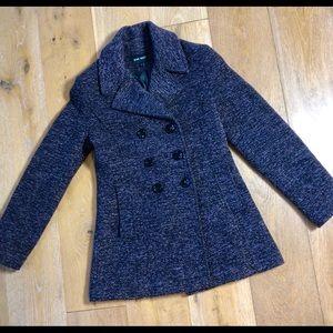 Nine West purple tweed texture peacoat jacket